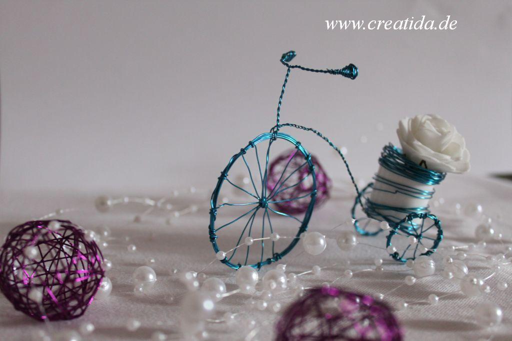 Dreirad oder doch ein Draht Deko Rad | DIY | Pinterest | Dreirad ...