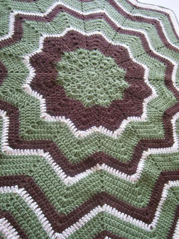 12 Point Round Ripple Baby Afghan Crafts Crocheting Pinterest