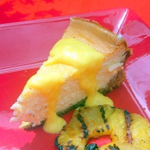 Inspired By eRecipeCards: Mascarpone Cheesecake with a Mango Sauce