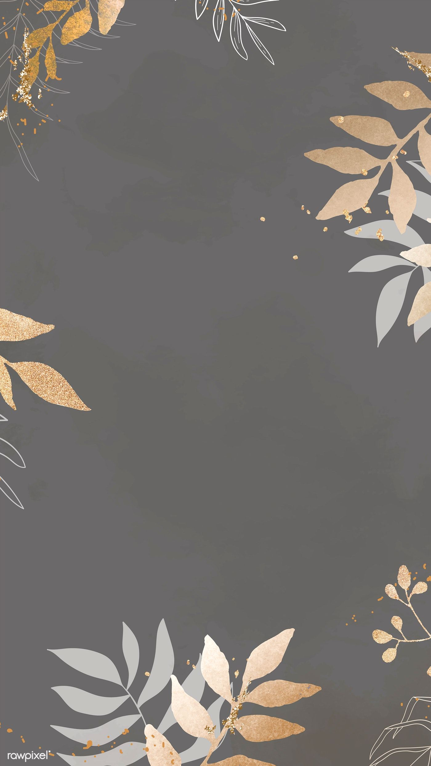 Download premium vector of Christmas patterned on gray background mobile