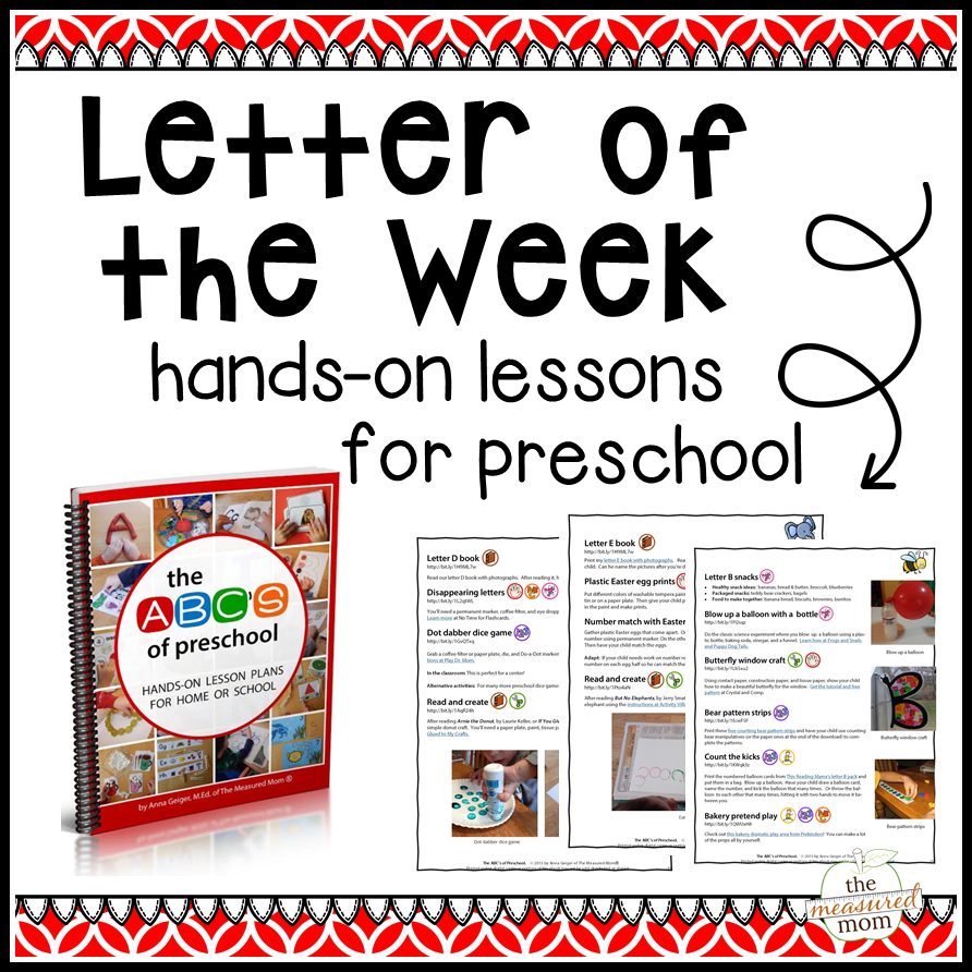 Letter Of The Week Curriculum The Measured Mom Teaching The Alphabet Letter Of The Week Alphabet Activities Toddler [ 892 x 892 Pixel ]