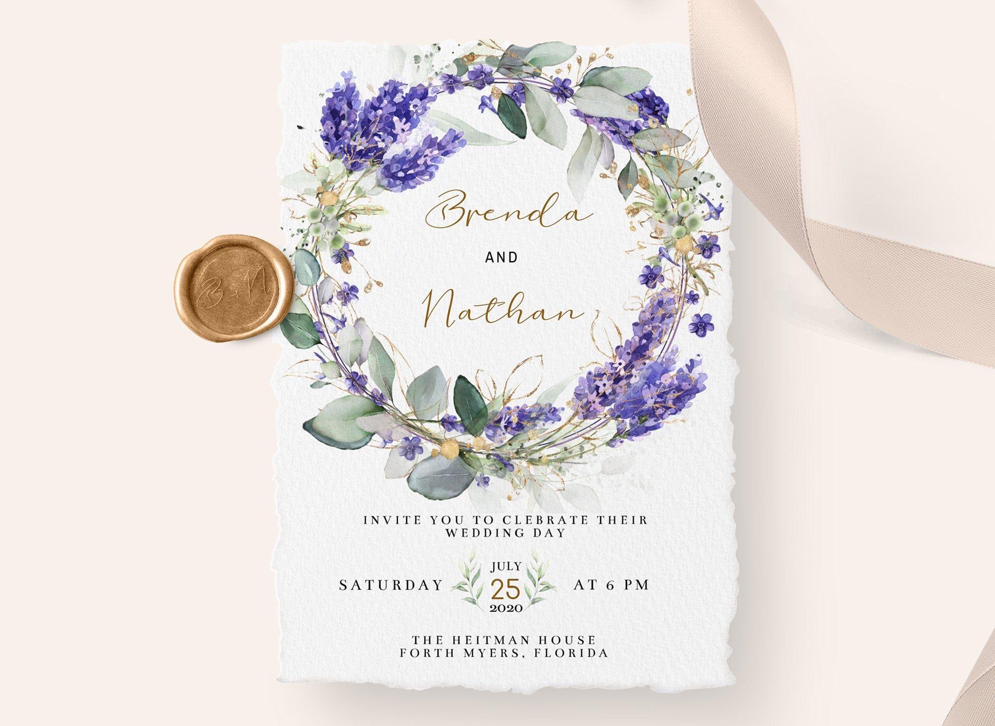 44+ Purple wedding invitations templates ideas in 2021