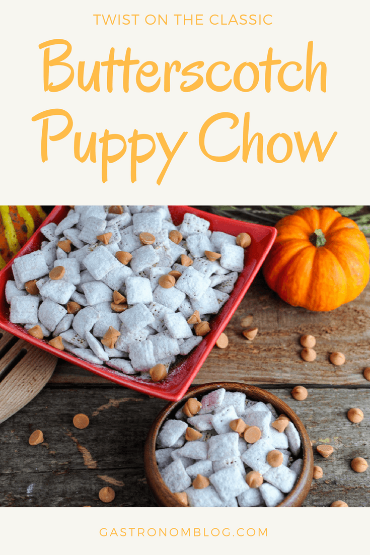 Butterscotch Blondie Puppy Chow Butterscotch Chex Cereal Peanut Butter Powdered Sugar Recipes Recip Butterscotch Desserts Puppy Chow Puppy Chow Recipes