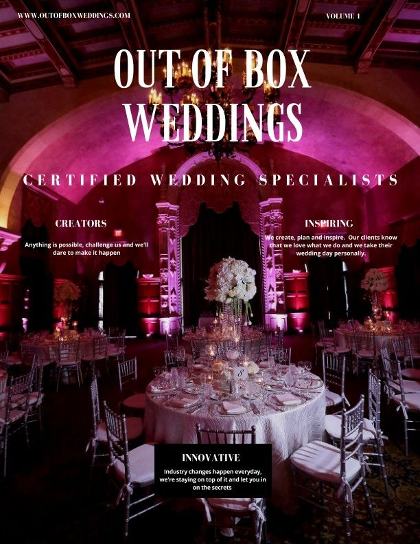 Be inspired by Out Of Box Weddings, we take pride in our weddings and we want to…
