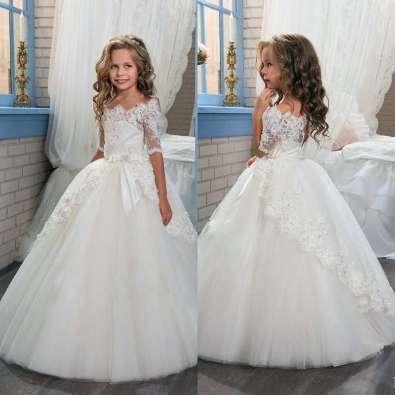 Flower Girl Dress Communion Party Prom Princess Pageant Bridesmaid Wedding