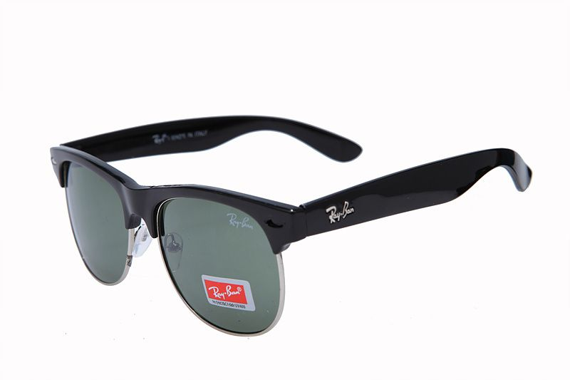 ray ban clubmaster sunglasses rb3016  ray ban clubmaster classic rb3016 green black sunglasses atb