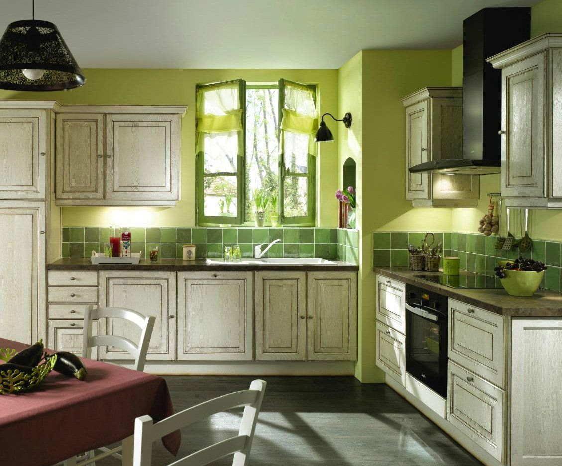 Ideas de decoración de cocinas rústicas en color verde | decoracion ...