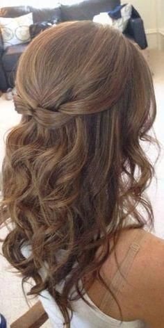 Image Result For Wedding Hair Half Up Half Down Medium Length Promhairstyleshalfuphalfdown Medium Length Curls Bridesmaid Hair Medium Length Down Hairstyles