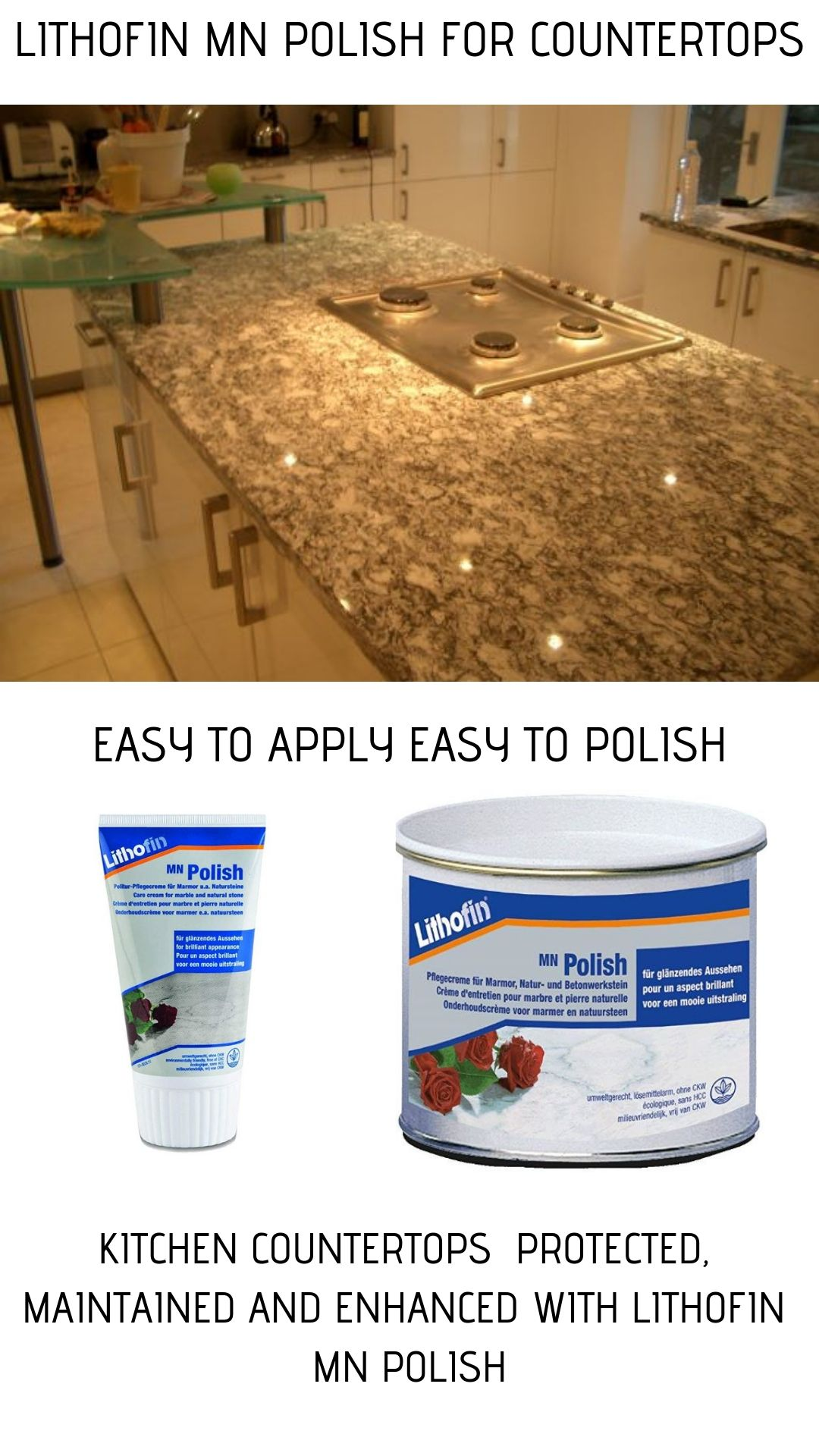 Countertop Polish Lithofin Countertops Stone Kitchen Worktops