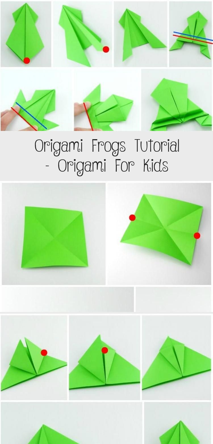 Photo of Origami Frogs Tutorial – Origami for Kids #origamiDress #origamiPikachu #origami…