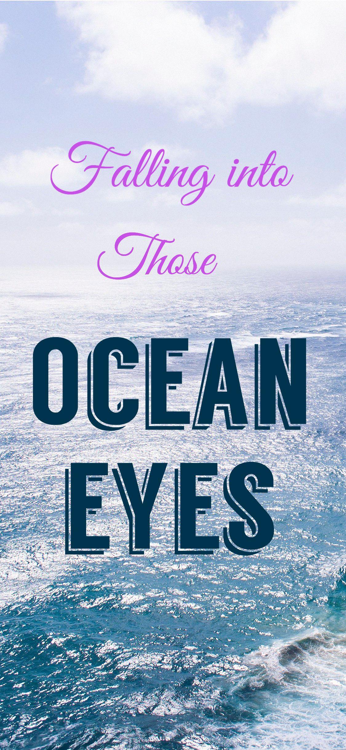 "Billie Eilish ""Ocean Eyes"" iPhone X/Xs/Xr wallpaper"
