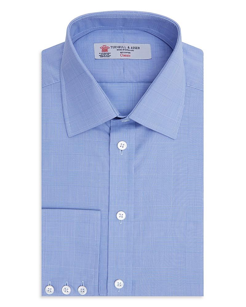 335.00$  Watch now - http://vifej.justgood.pw/vig/item.php?t=62docw5422 - Turnbull & Asser Prince of Wales Plaid Classic Fit Dress Shirt