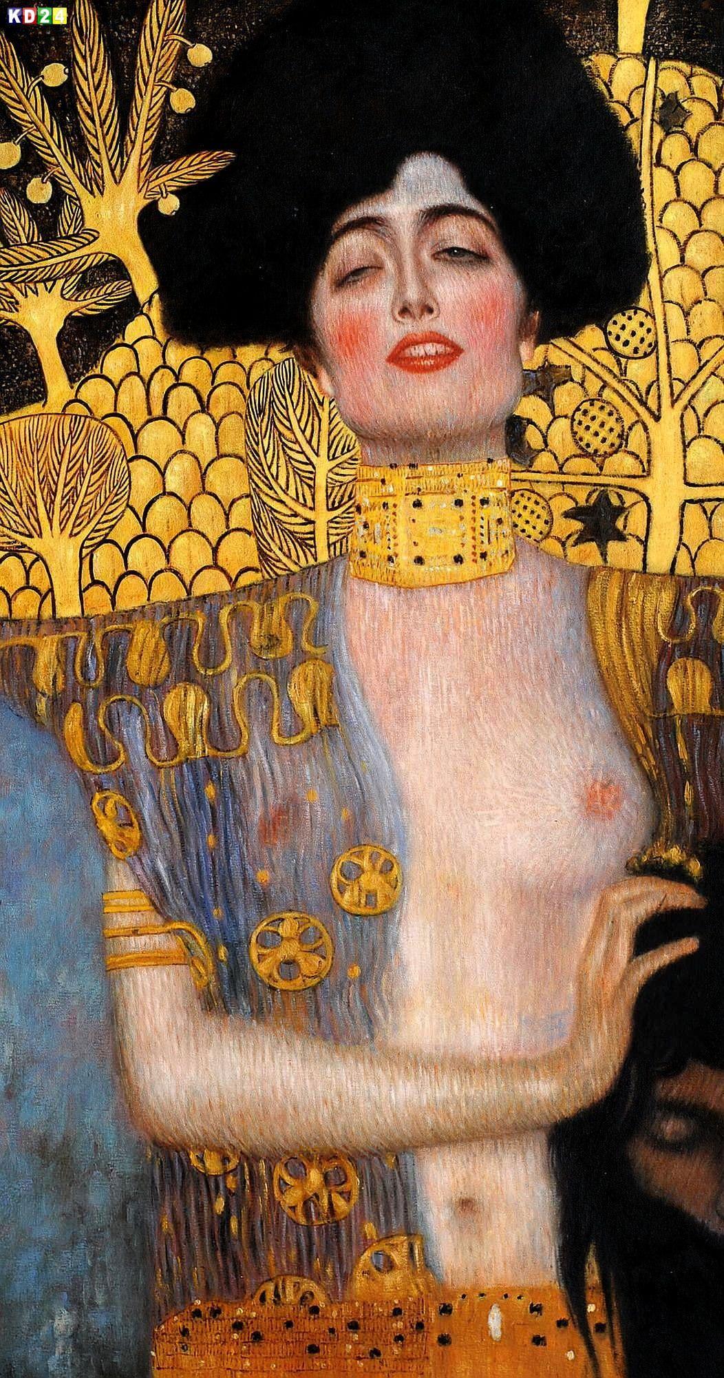 Gustav-Klimt-Judith-f84104-60x120cm-Jugendstil-Olbild-handgemalt ...