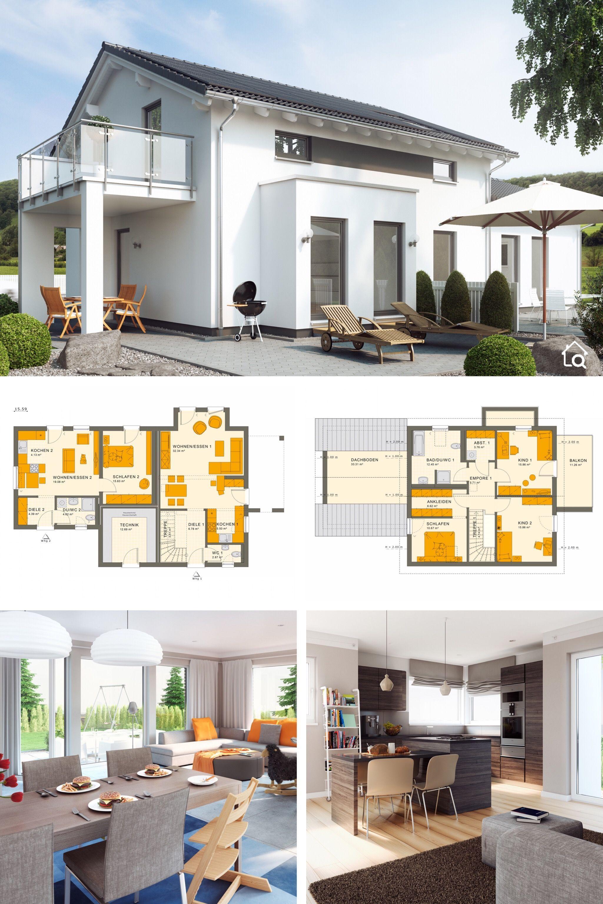 Modernes Haus Mit Einliegerwohnung Im Erdgeschoss Anbau