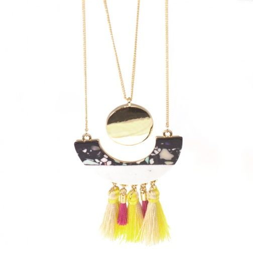Festival Fashion: Long Layered Necklace with Beads and Tassels