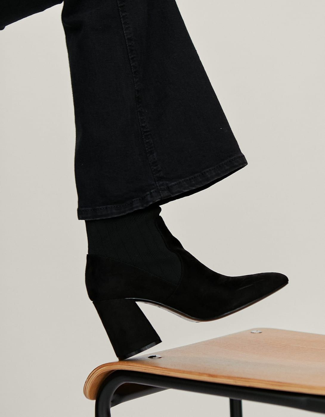 e962a962b604 Heeled ankle boots with contrasting sock detail - Just in ...