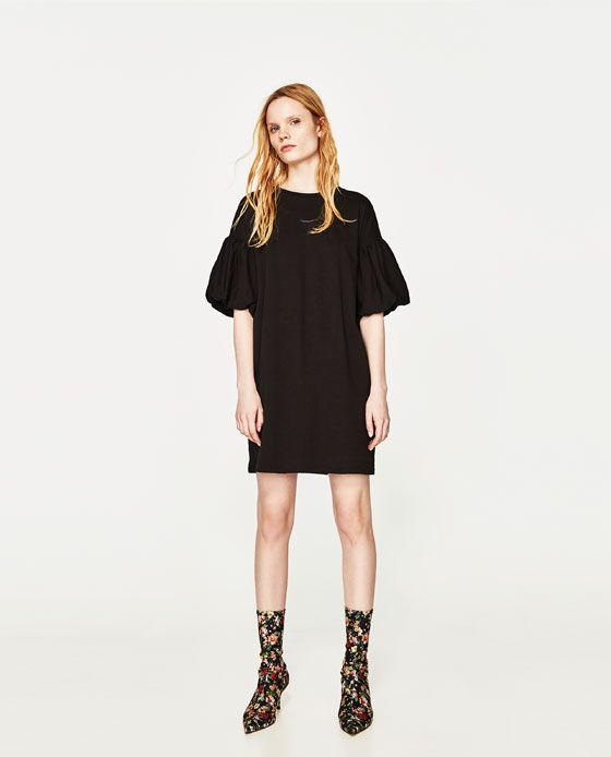 7e873ecd Image 1 of PUFF SLEEVE DRESS from Zara | Shopping | Picking and ...