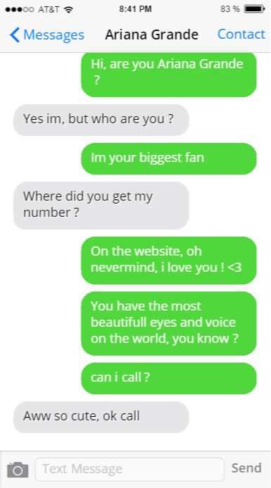 Zendaya Real Phone Number ariana grande p...