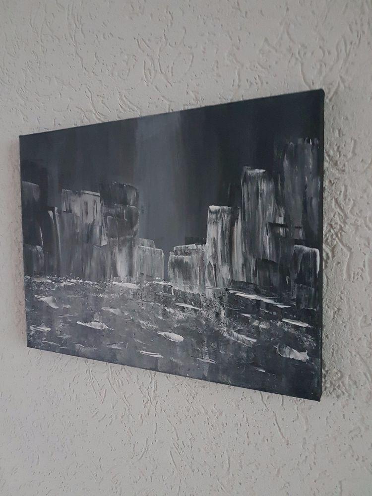 aryl kunst acrylmalerei abstrakt leinwand keilrahmen 30 x 40 cm eismeer malerei inspiration günstig bedrucken bild 120x60
