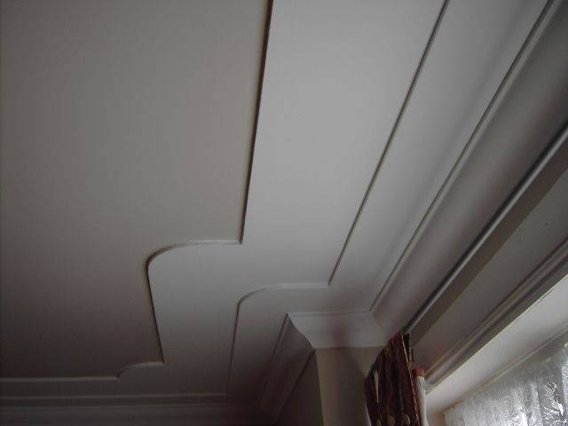 A Double Step Down Coved Ceiling