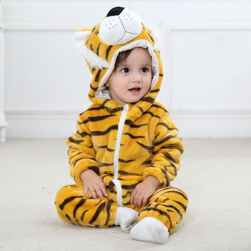 818f71115c5d MezyTicky Қысқы жылы Балалар bebe Hooded Costumes Toddler rompers ...