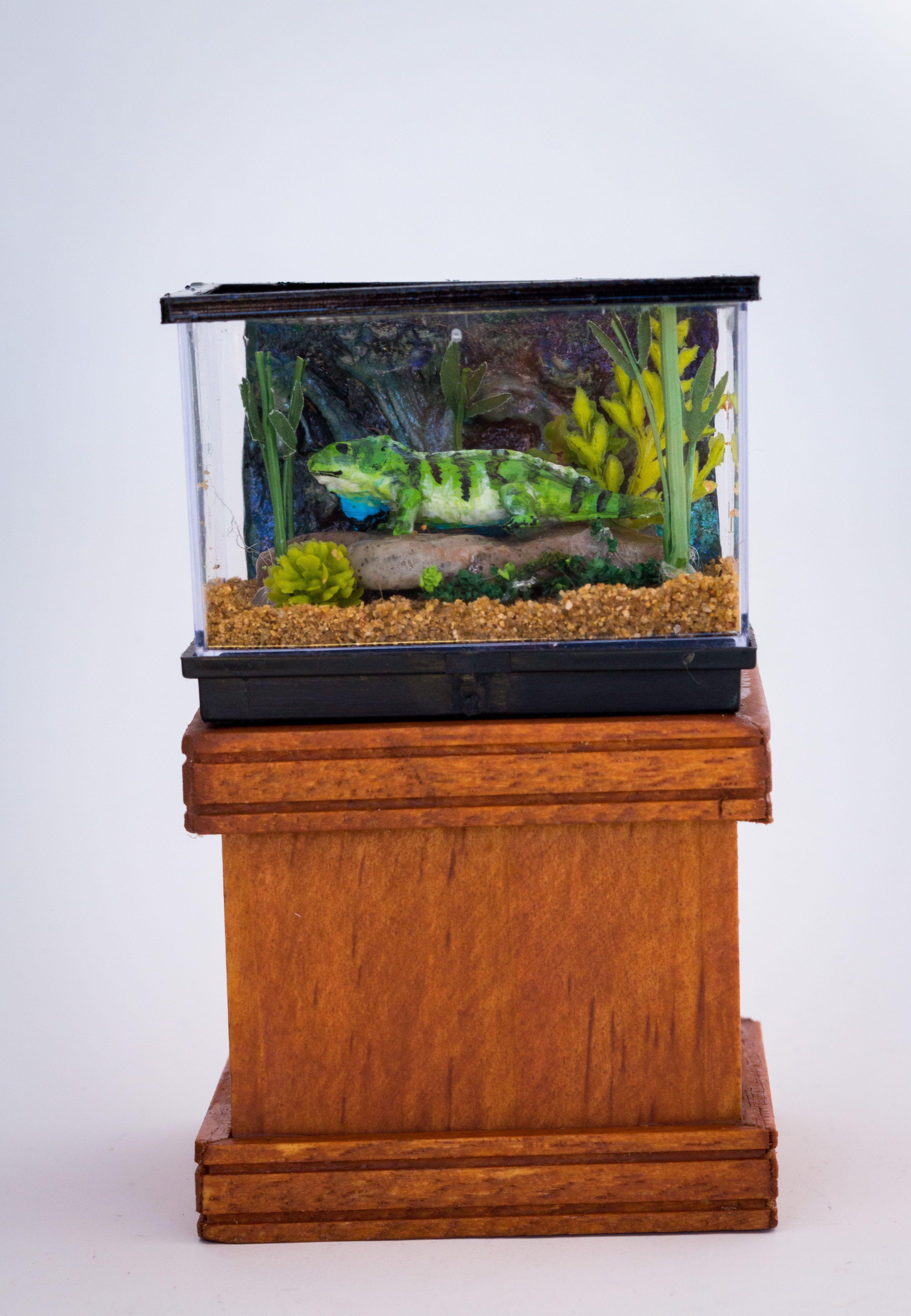 1 12 Scale Dollhouse Miniature Lizard Tank Animal Dollhouse