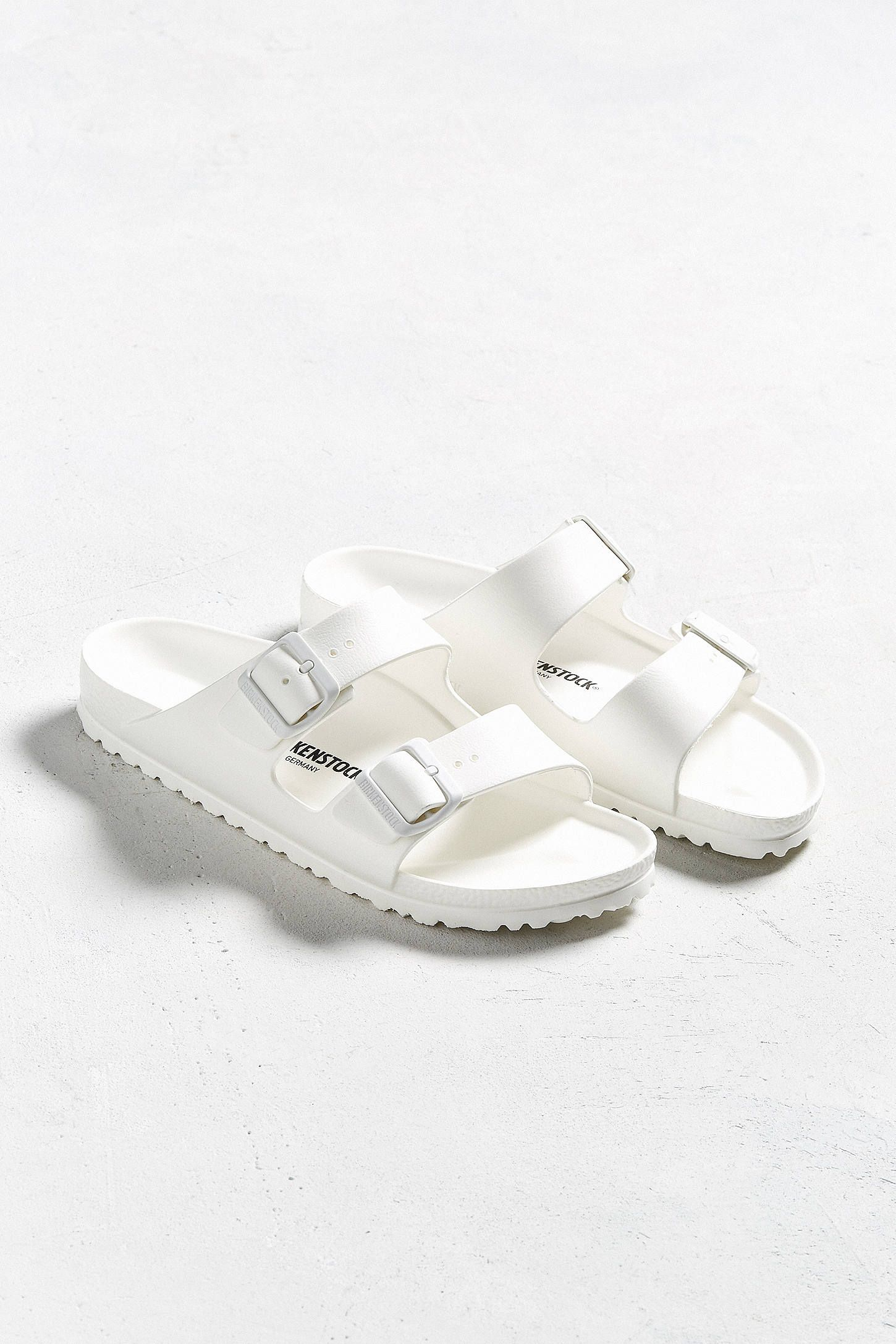 63f12d72e337 Slide View  1  Birkenstock Arizona White Rubber EVA Sandal
