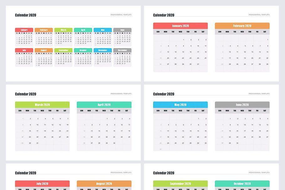 Calendar 2020 For Powerpoint Calendar 2020 Calendar Powerpoint