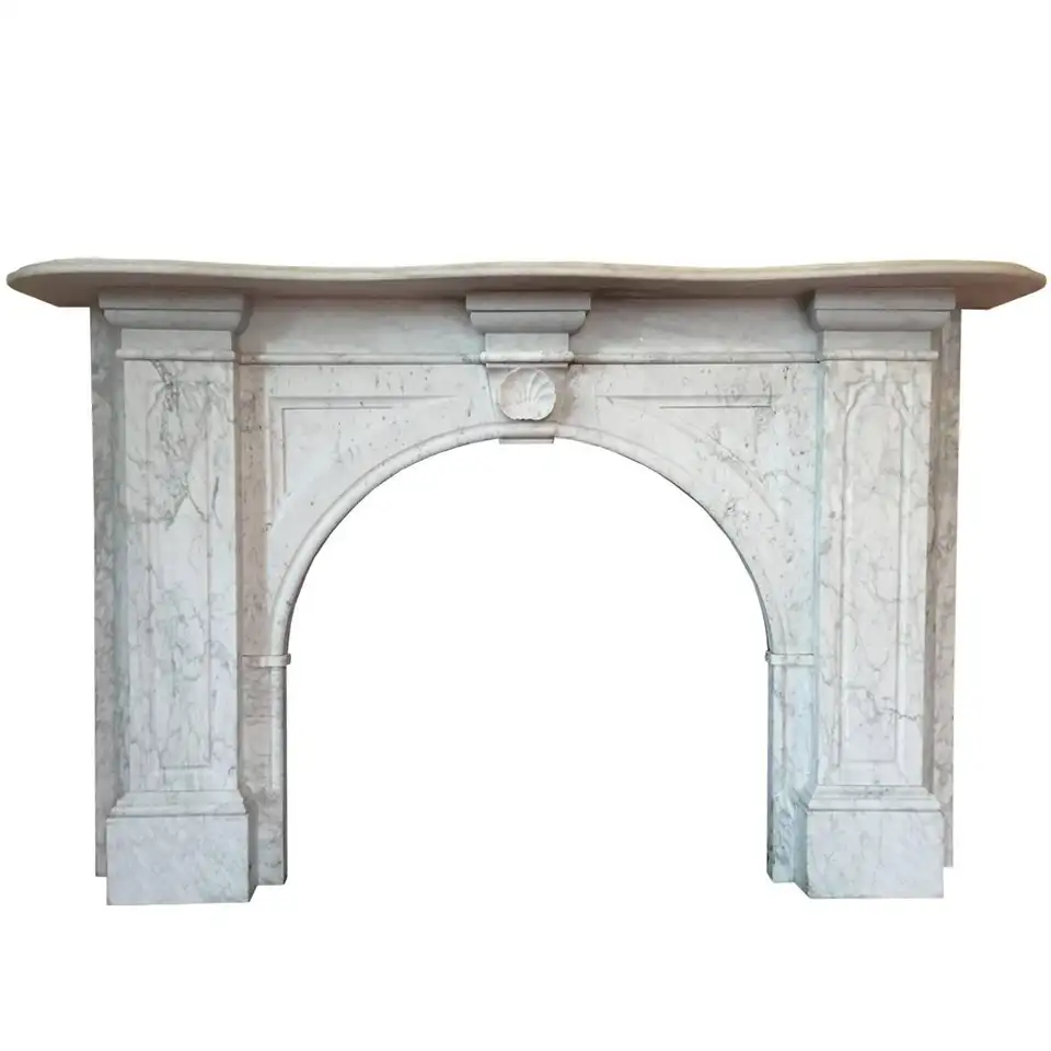 For Sale On 1stdibs Large Victorian Carrara Marble Fireplace Surround With Arched Aperture Fielded Panels To Th In 2020 Marble Fireplace Surround Fireplace Surrounds