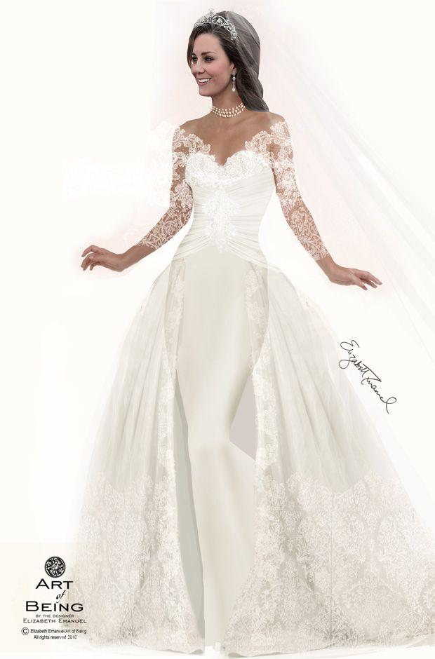 Kate Royal Wedding Gown | Elizabeth Emanuel Designs 7 Wedding ...