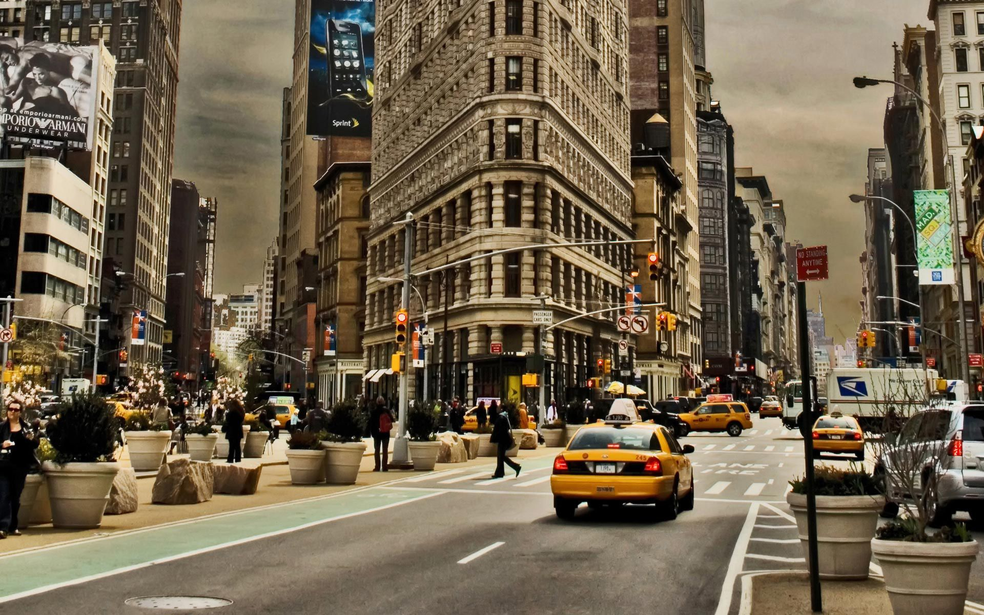 NY Street Cabs HD Wallpaper Someday Somewhere