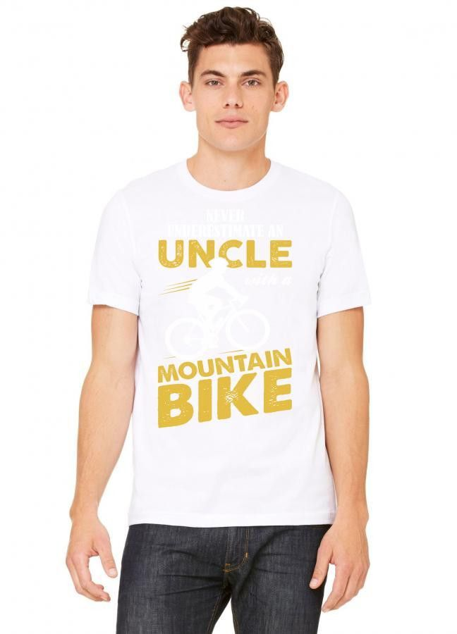 Never Underestimate An Uncle With A Mountain Bike Tshirt
