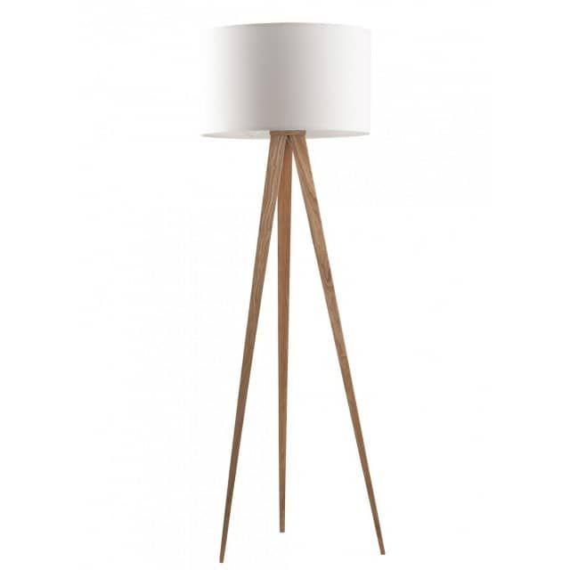 Tripod Wood - Stehlampe - Weiß/ Eiche - designbotschaft GmbH