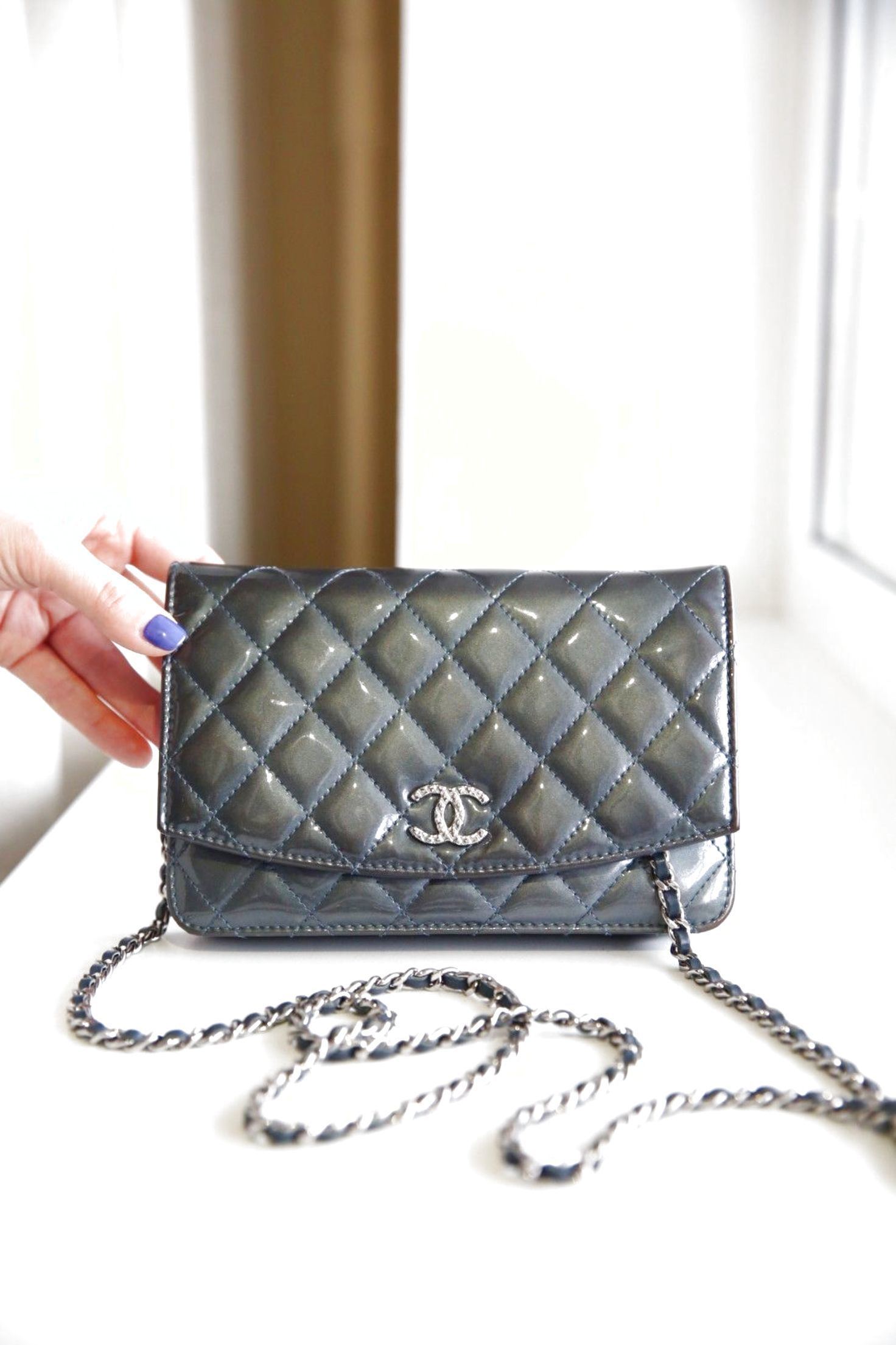 504ce4851c41 Authentic Chanel Blue Caviar WOC Wallet On a Chain bag $1399.0 | Chanel  Handbags | Pinterest | Blues, Bags and Chanel