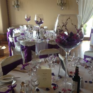Giant Wine Glass Vase Centerpiece