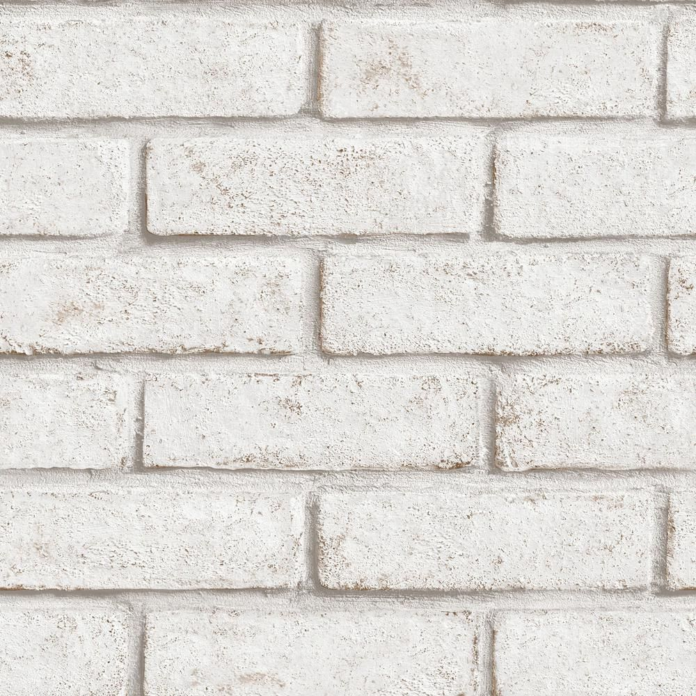 Graham & Brown Strata Brick White/Red Removable Wallpaper