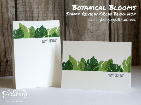 Valerie Moody, Botanical Blooms, Botanical Builder, Stampin Up, Stamp Review…
