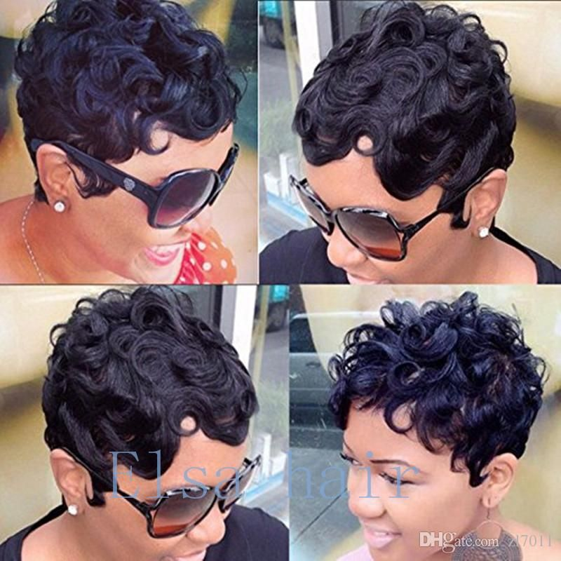 Machine Made Wigs For Black Women Pixie Short Curly Hair Wigs Brazilian Human Hair Wig With Baby Hair Cheap Wigs Full Lace Wig Uk Party Wig From Zl7011 26 13 Short Human