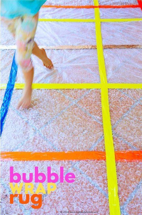 Simple Craft Idea Bubble Wrap Rug Simple Craft Ideas