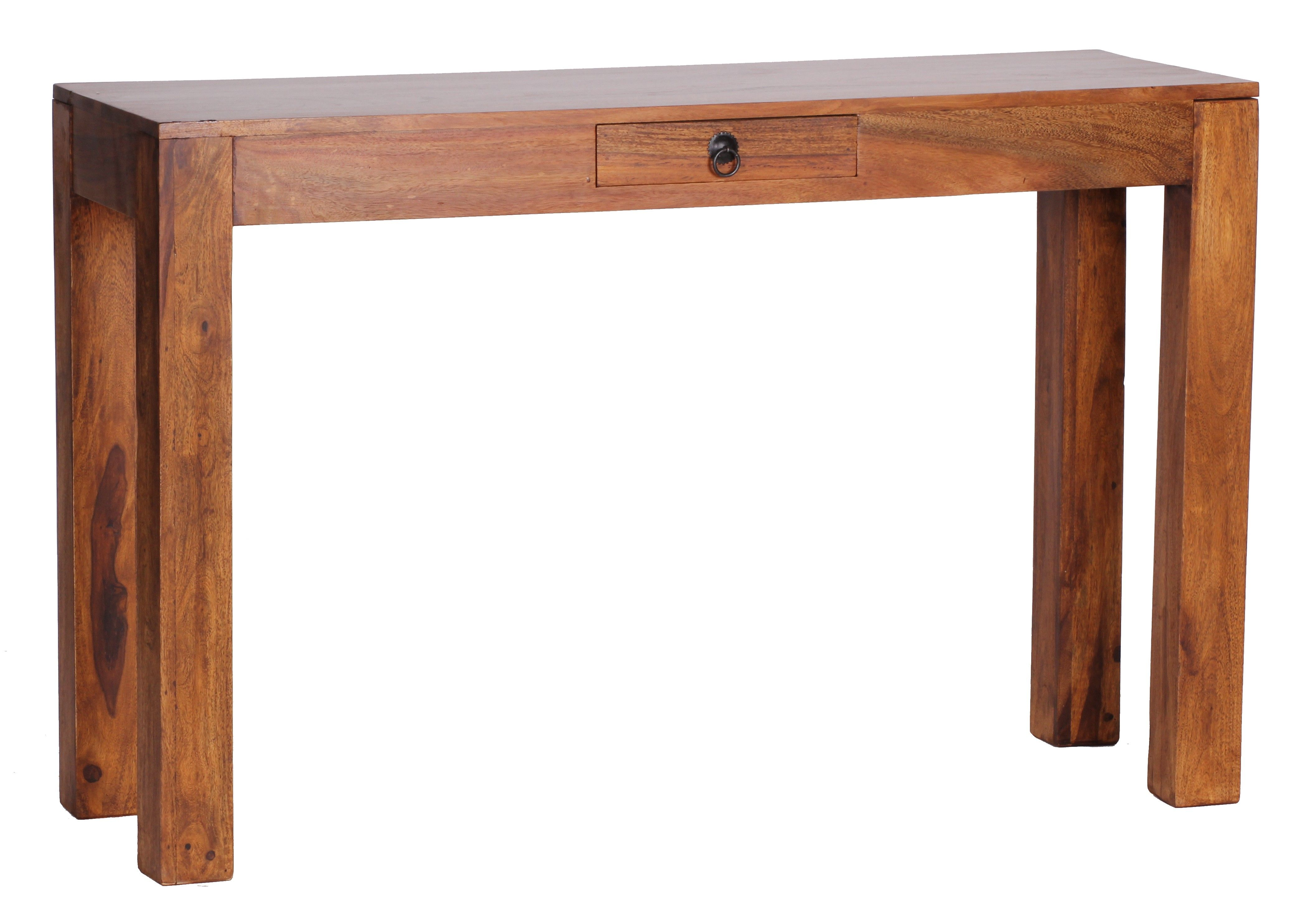 Sheesham Konsolentisch Massiv 120 Cm Mit 1 Schublade Massivholz Console Table Table Furniture
