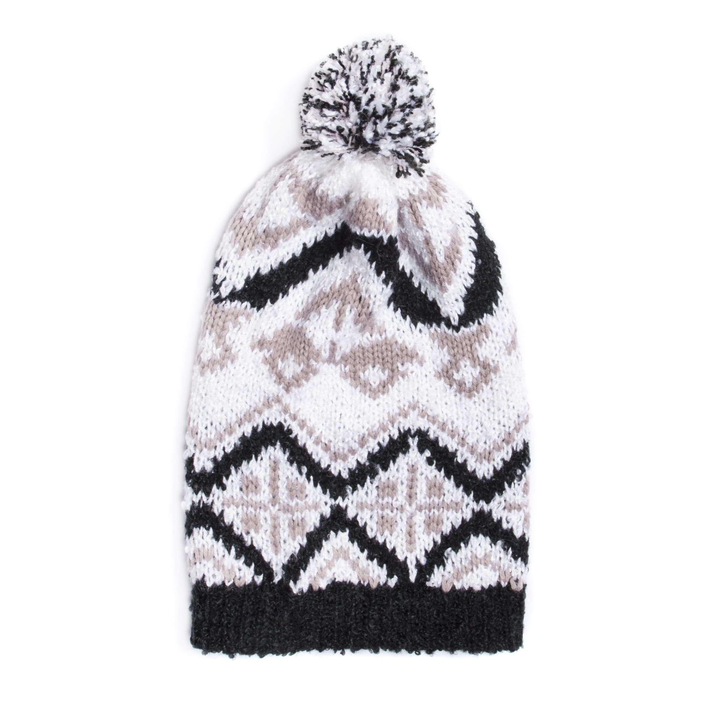 2242e4db3a75f MUK Luks® Women's Tribal Slouch Beanie (Osfm Vanilla (White)), Size One  Size (acrylic)