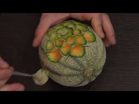 #189 How to make a classic & simple pattern on a melon ...