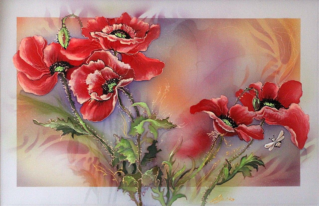 Цветочные вариации - Роспись по шёлку | Veronika Russko. Обсуждение на…