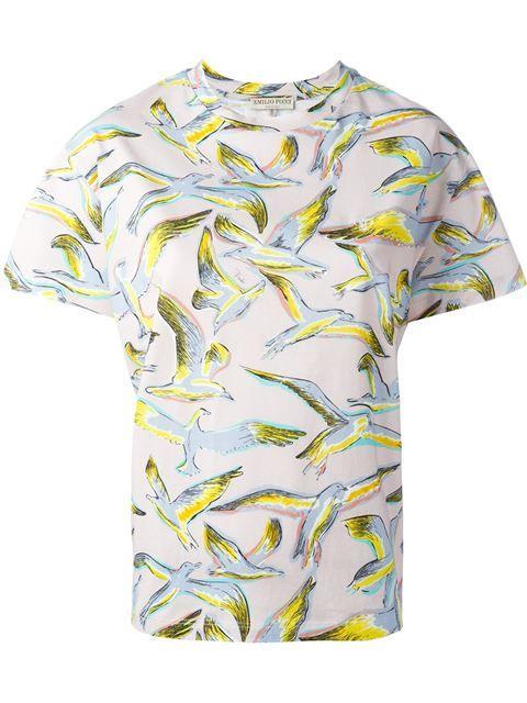 becc8162f45 EMILIO PUCCI Bird Print T-Shirt.  emiliopucci  cloth  t-shirt ...