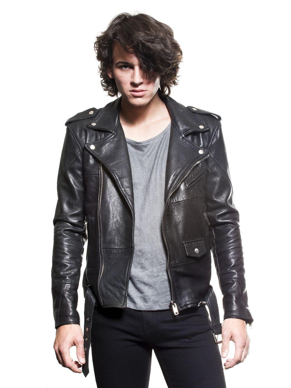 Deadwood - Mens Biker Jacket Black