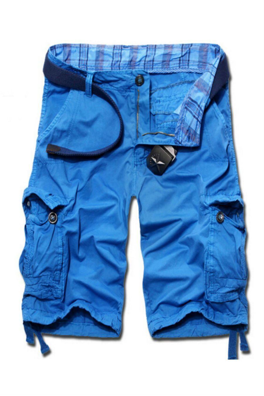 a5ec3368eb3 Men s Casual Cargo Shorts In Blue in 2019