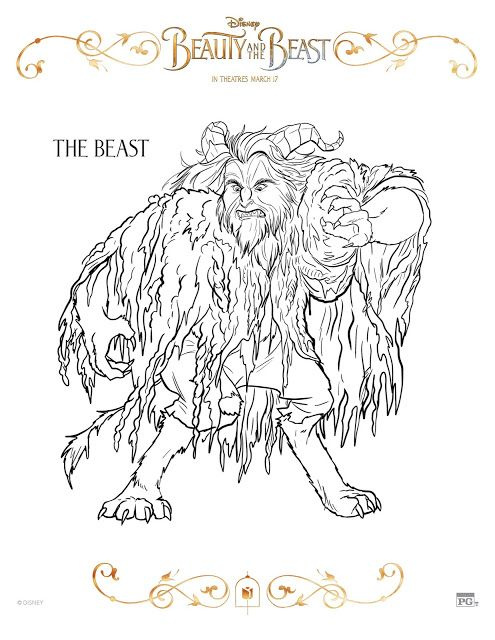 10 Free Beauty And The Beast Coloring Pages With Images Beauty