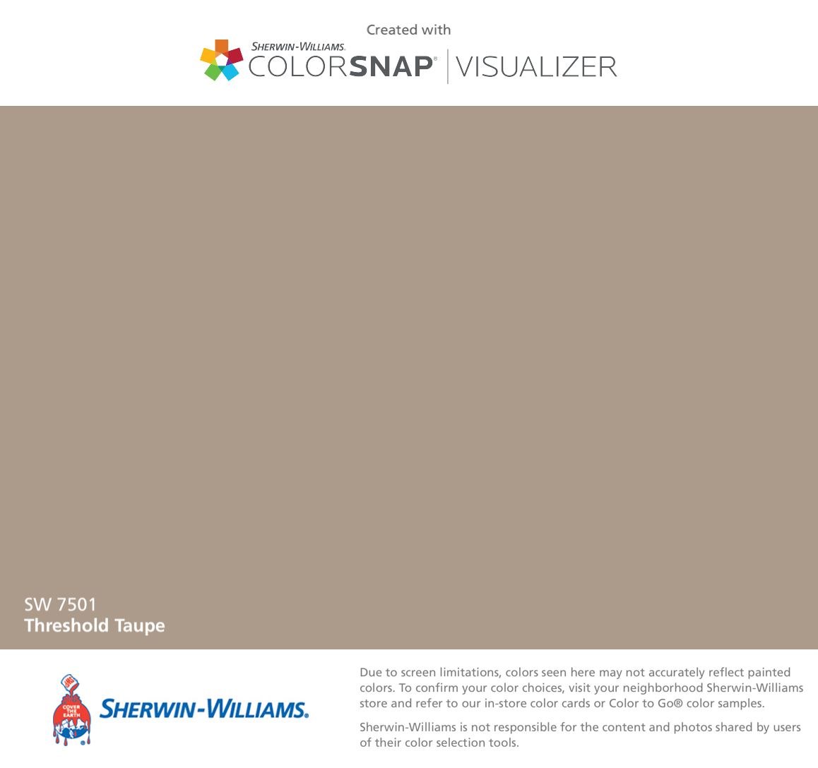 I found this color with colorsnap visualizer for iphone for Sherwin williams virtual painter