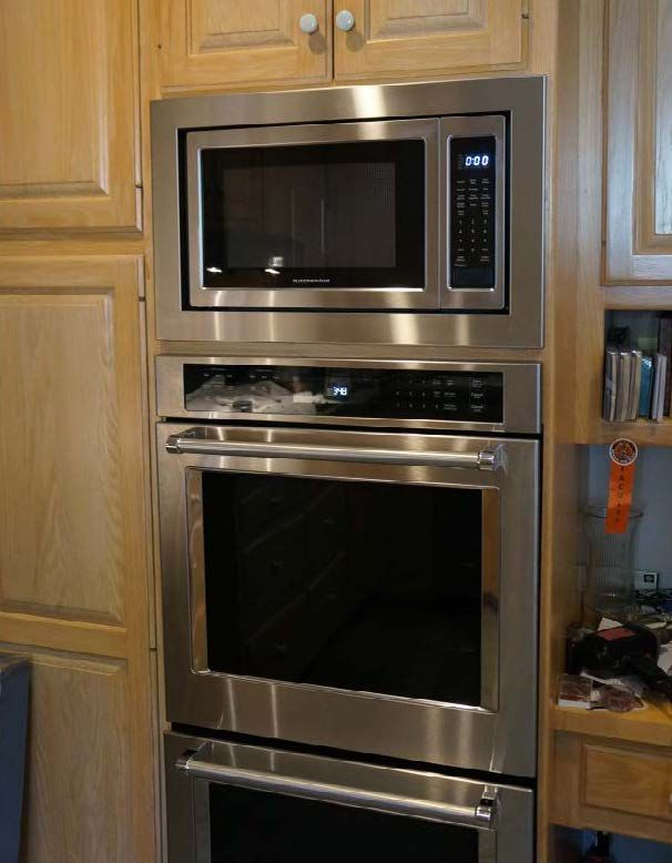 wall oven countertop microwave oven