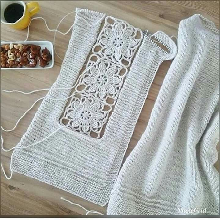 Pin de Ana Margarita Grand en crochet 2 | Pinterest | Tejido, Blusas ...
